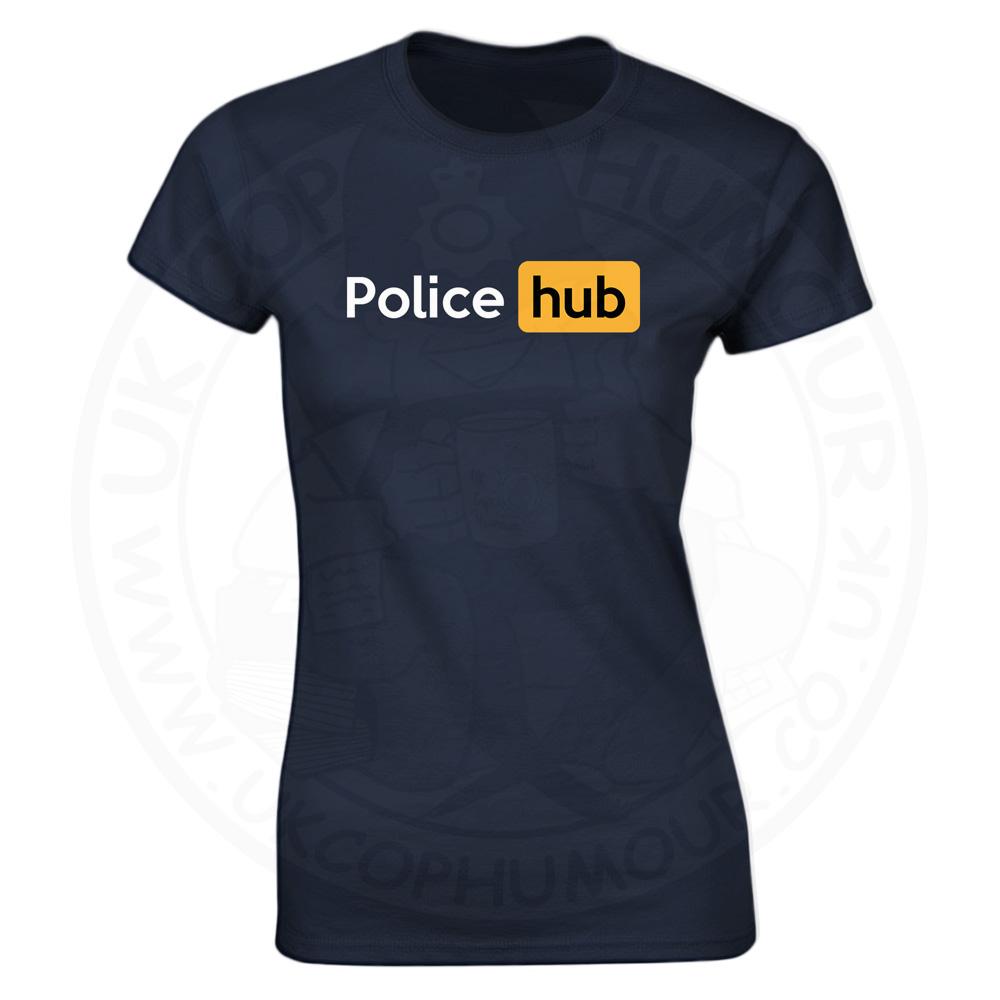 Ladies Police Hub T-Shirt - Navy, 18