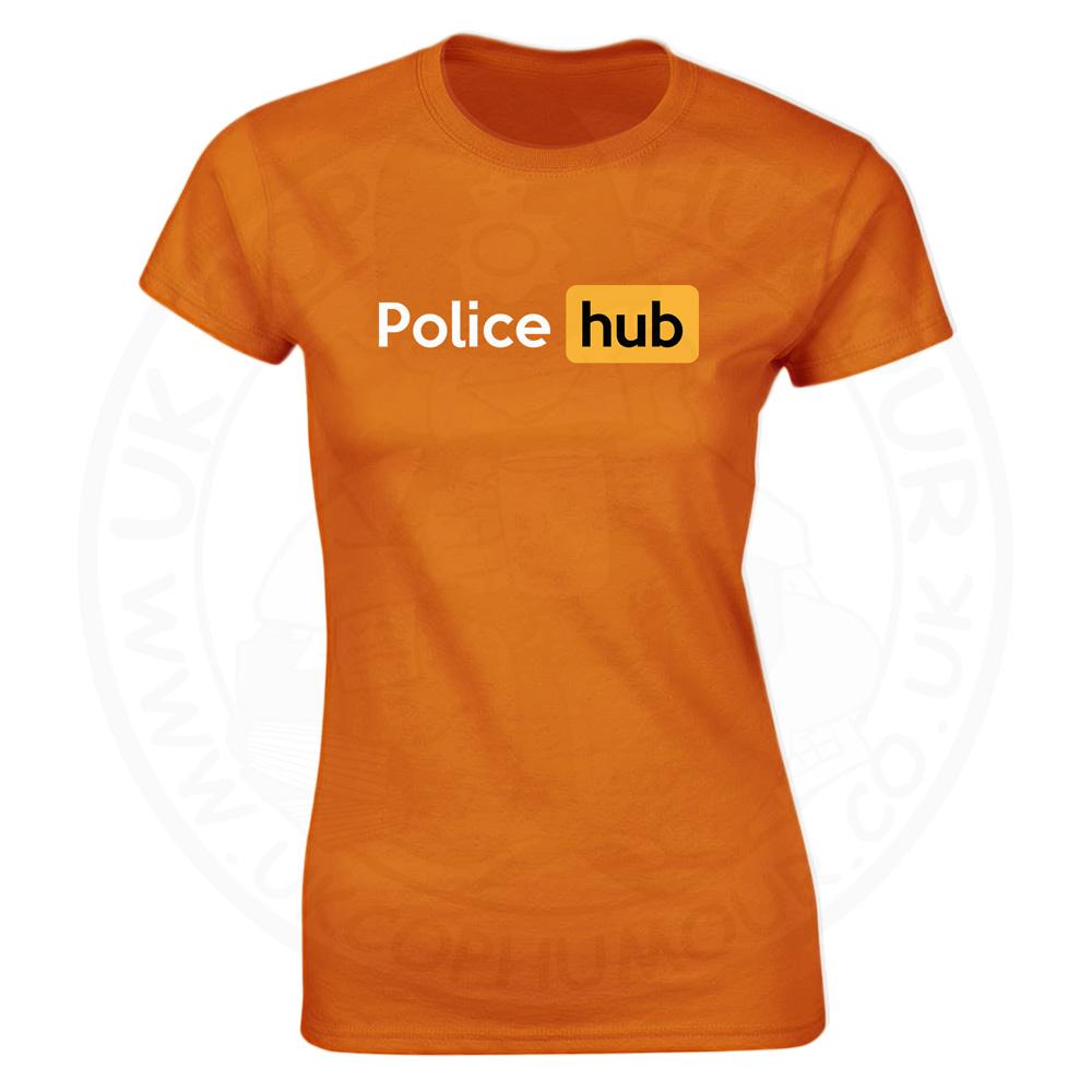Ladies Police Hub T-Shirt - Orange, 18