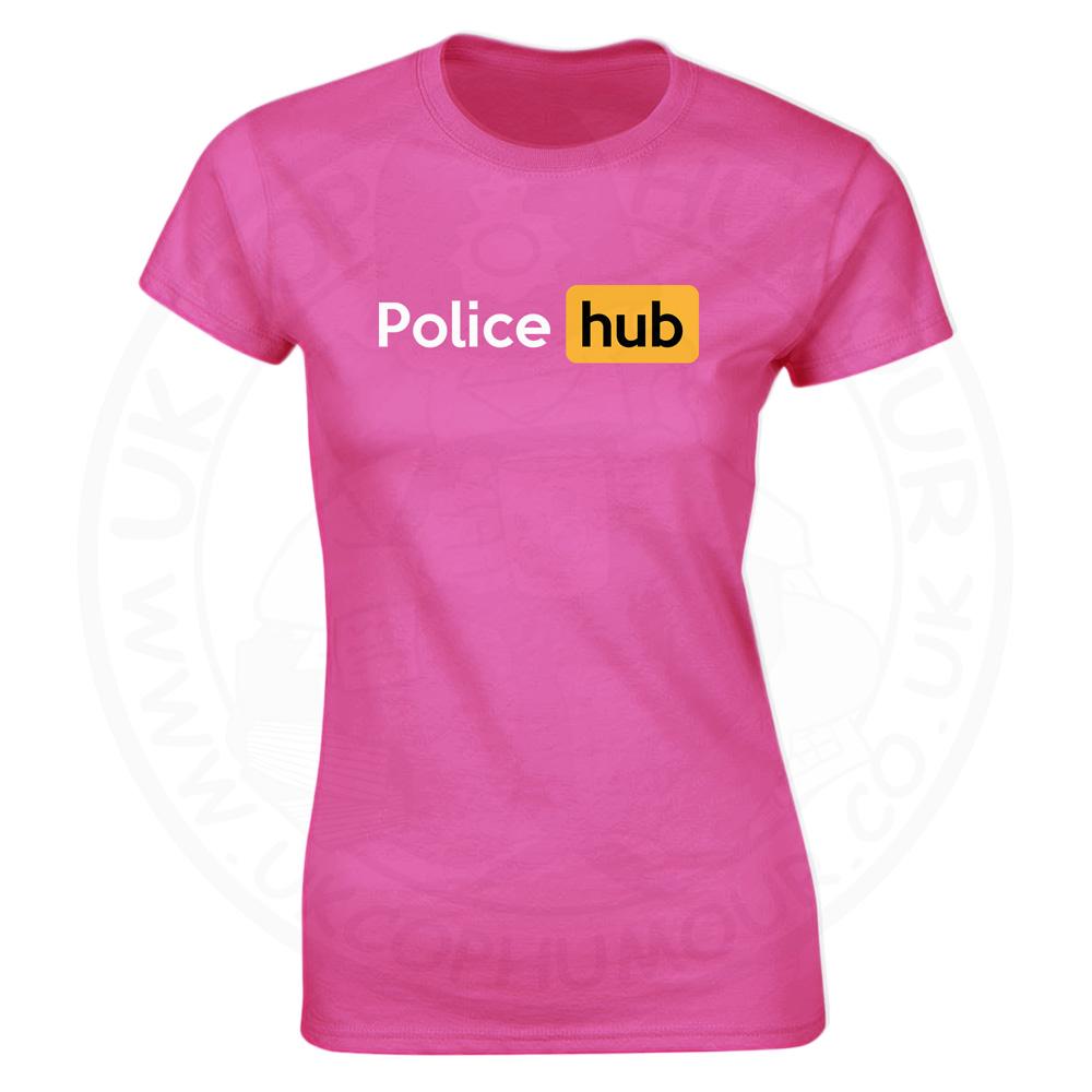 Ladies Police Hub T-Shirt - Pink, 18