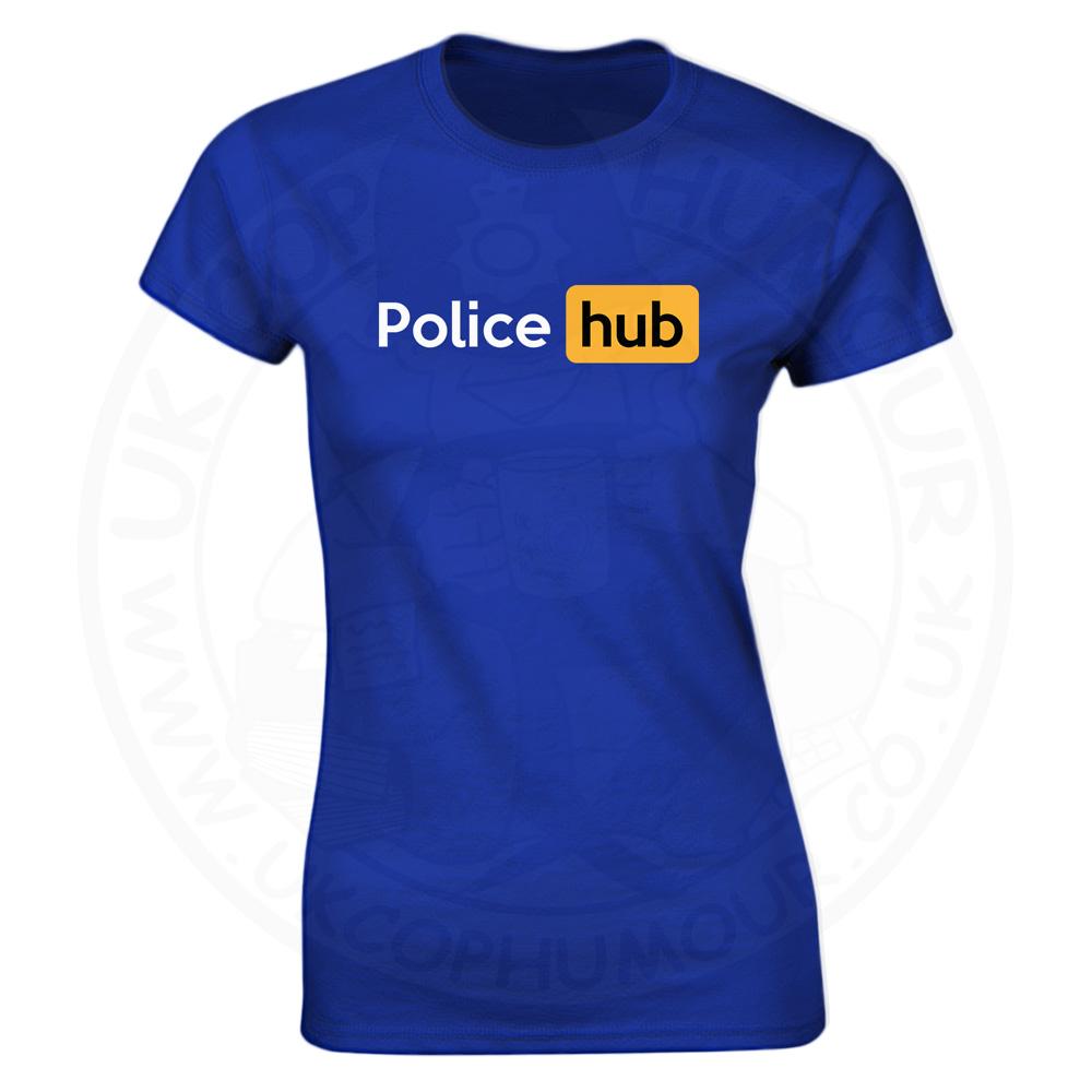 Ladies Police Hub T-Shirt - Royal Blue, 18