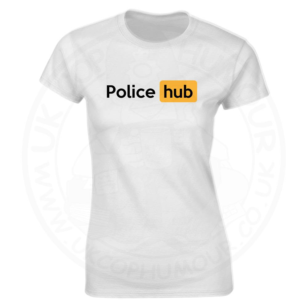 Ladies Police Hub T-Shirt - White, 18