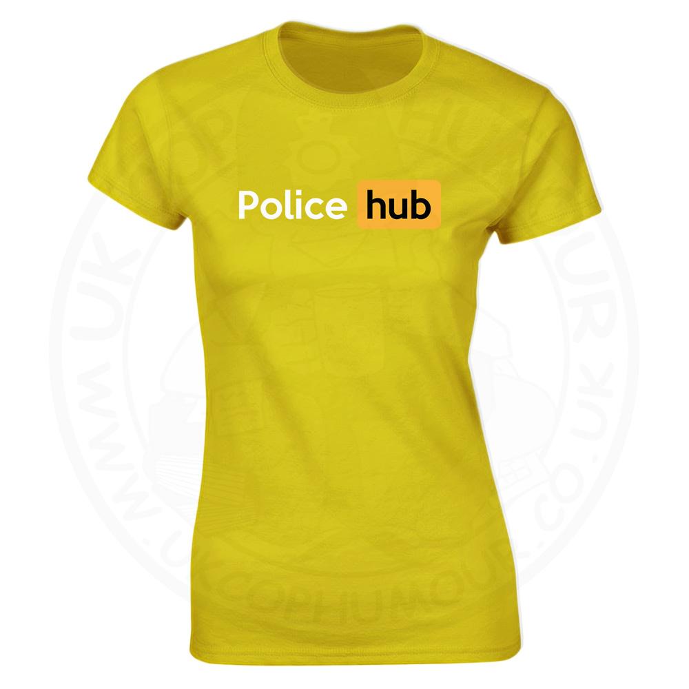 Ladies Police Hub T-Shirt - Yellow, 18