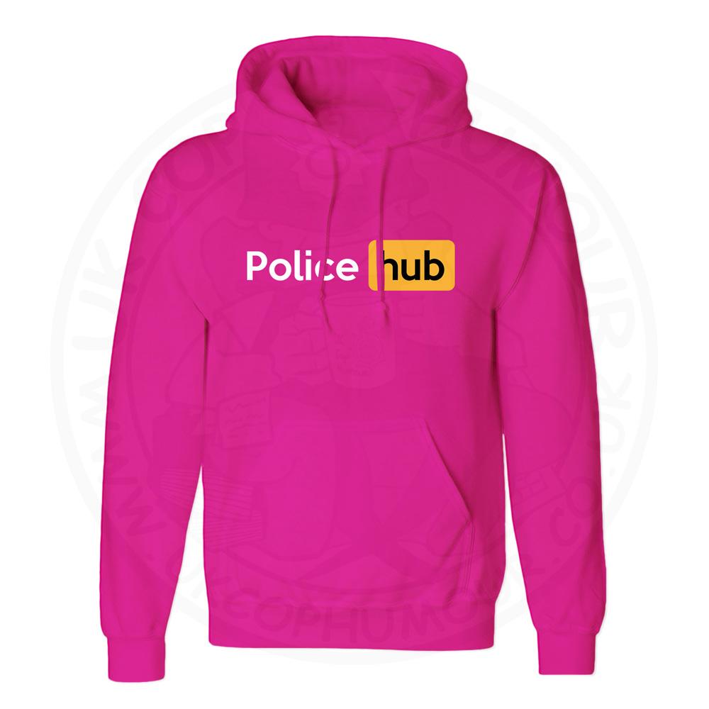 Unisex Police Hub Hoodie - Hot Pink, 2XL