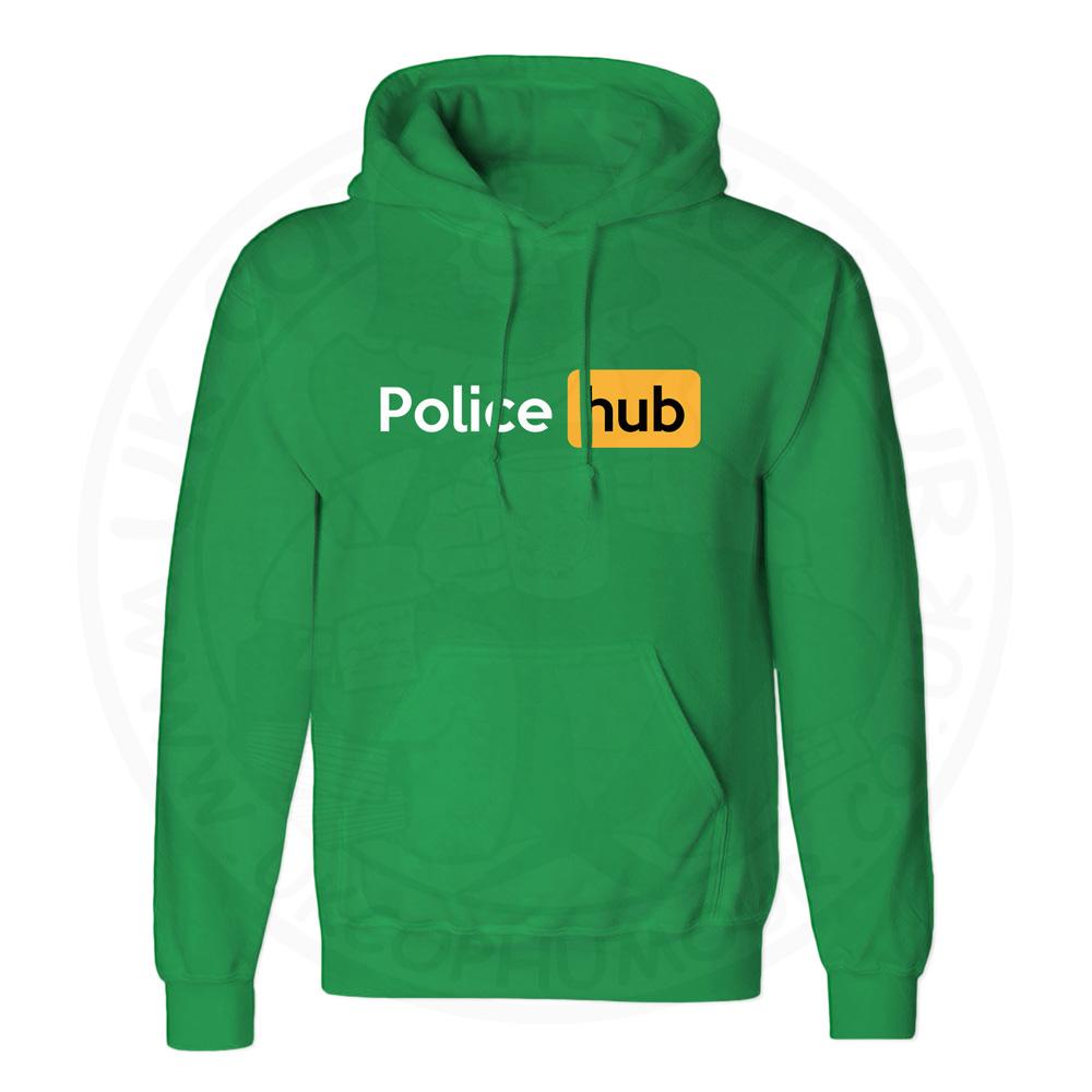 Unisex Police Hub Hoodie - Kelly Green, 2XL