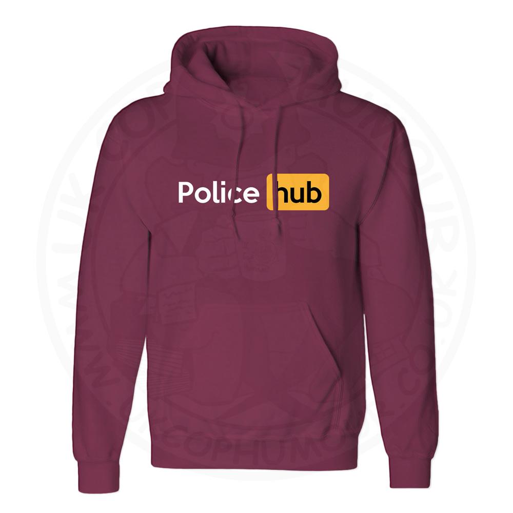 Unisex Police Hub Hoodie - Maroon, 2XL