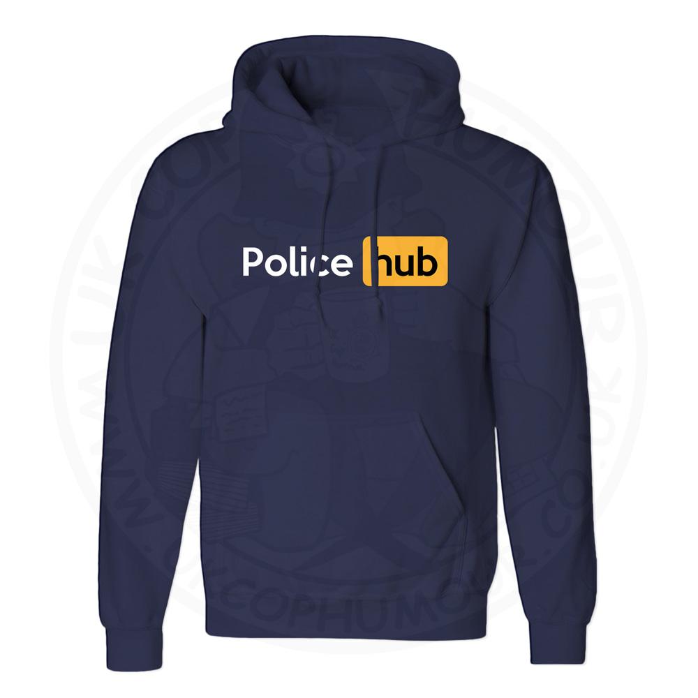 Unisex Police Hub Hoodie - Navy, 5XL