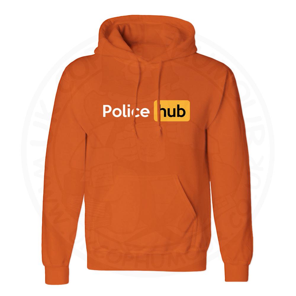 Unisex Police Hub Hoodie - Orange, 2XL