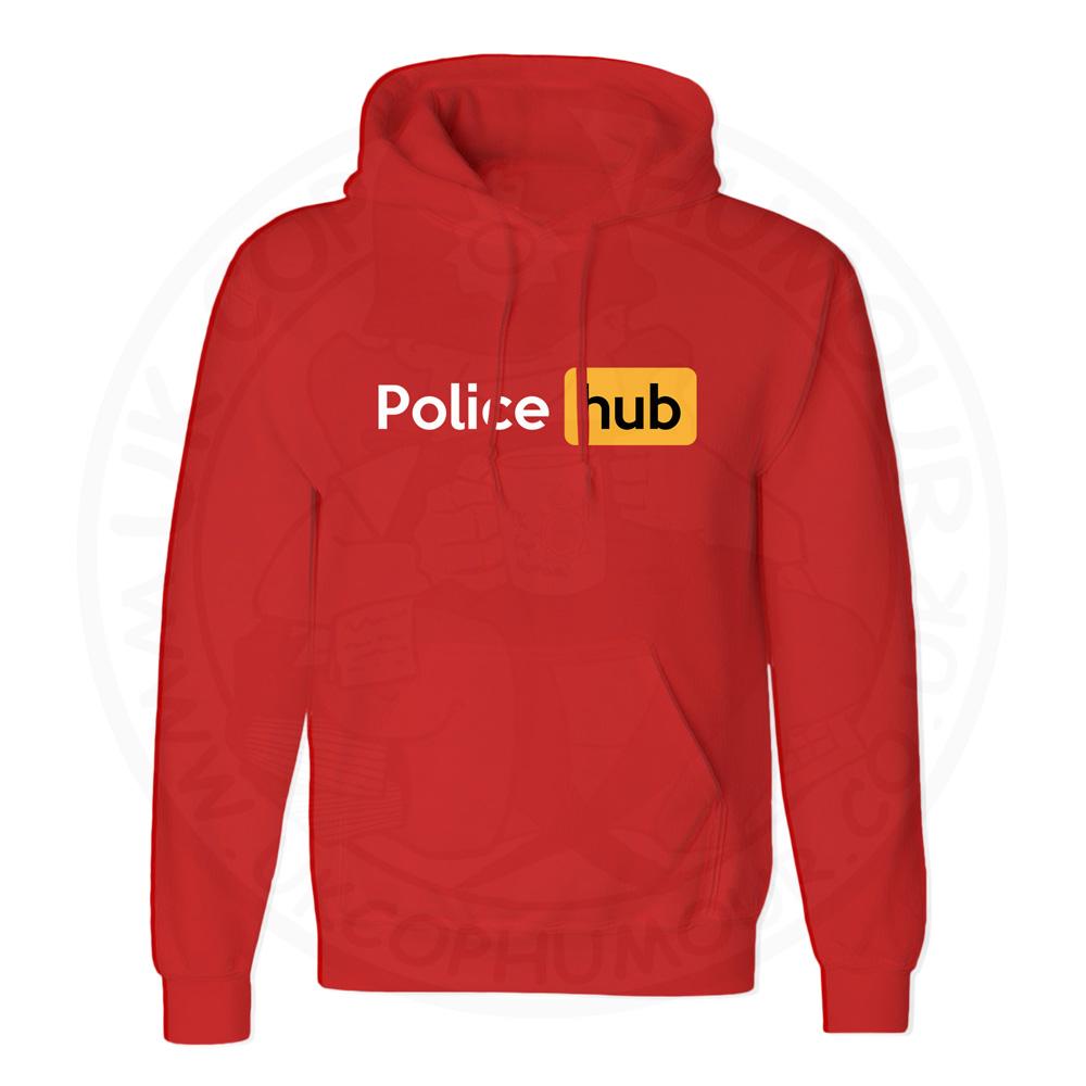 Unisex Police Hub Hoodie - Red, 3XL