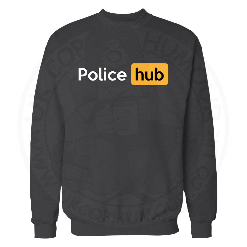 Police Hub Sweatshirt - Black, 3XL