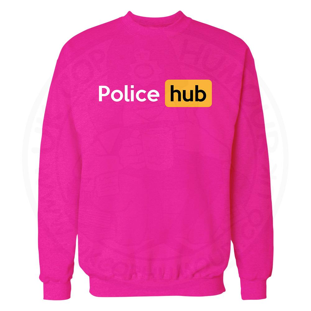 Police Hub Sweatshirt - Candy Floss Pink, 2XL