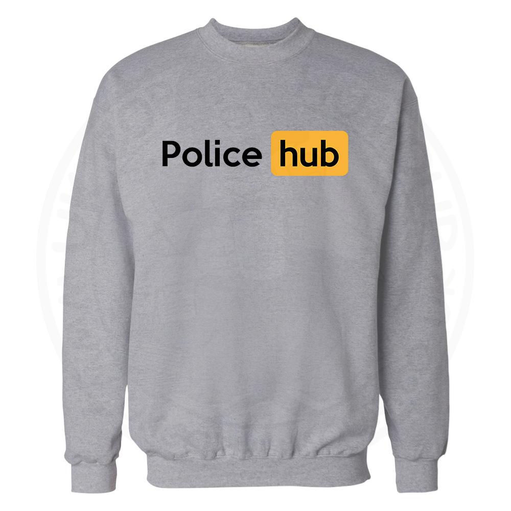 Police Hub Sweatshirt - Grey, 3XL