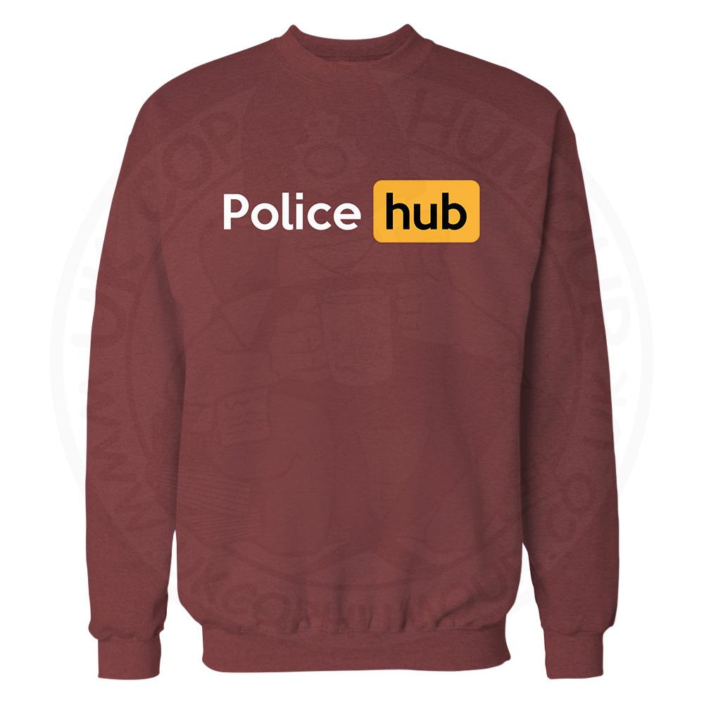 Police Hub Sweatshirt - Maroon, 2XL
