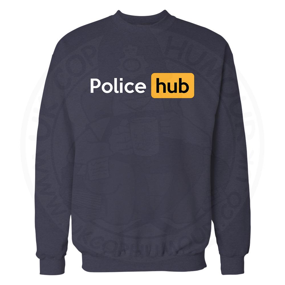 Police Hub Sweatshirt - Navy, 3XL