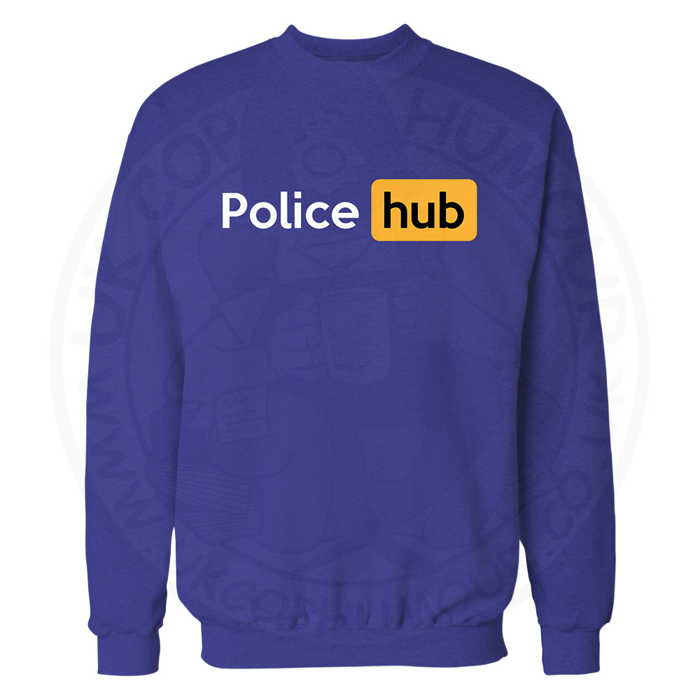 Police Hub Sweatshirt - Royal Blue, 2XL