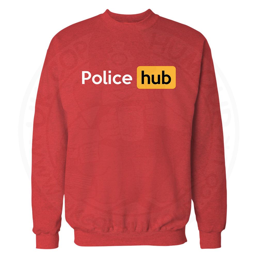 Police Hub Sweatshirt - Red, 2XL