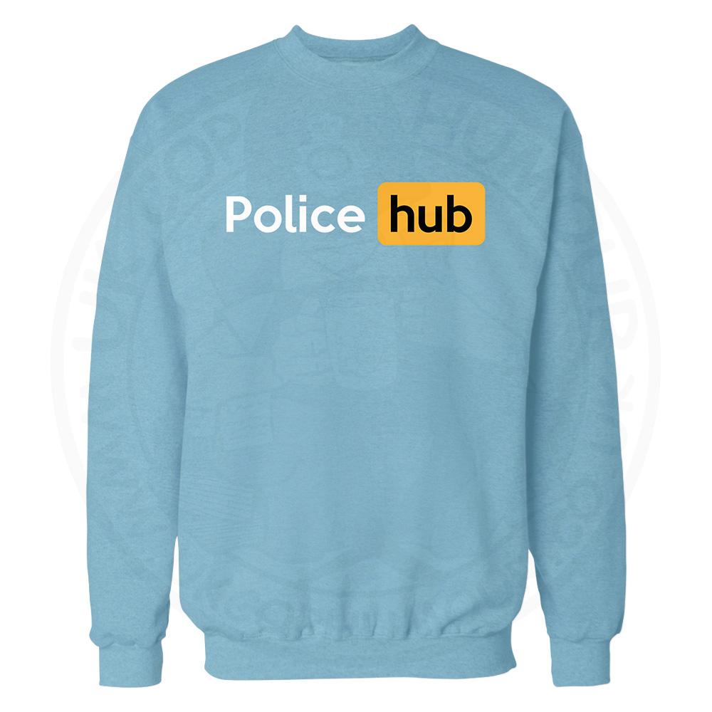 Police Hub Sweatshirt - Sky Blue, 2XL