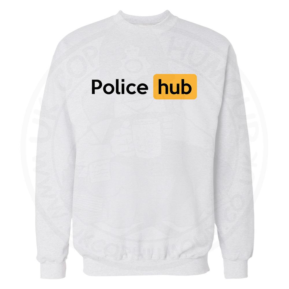 Police Hub Sweatshirt - White, 3XL