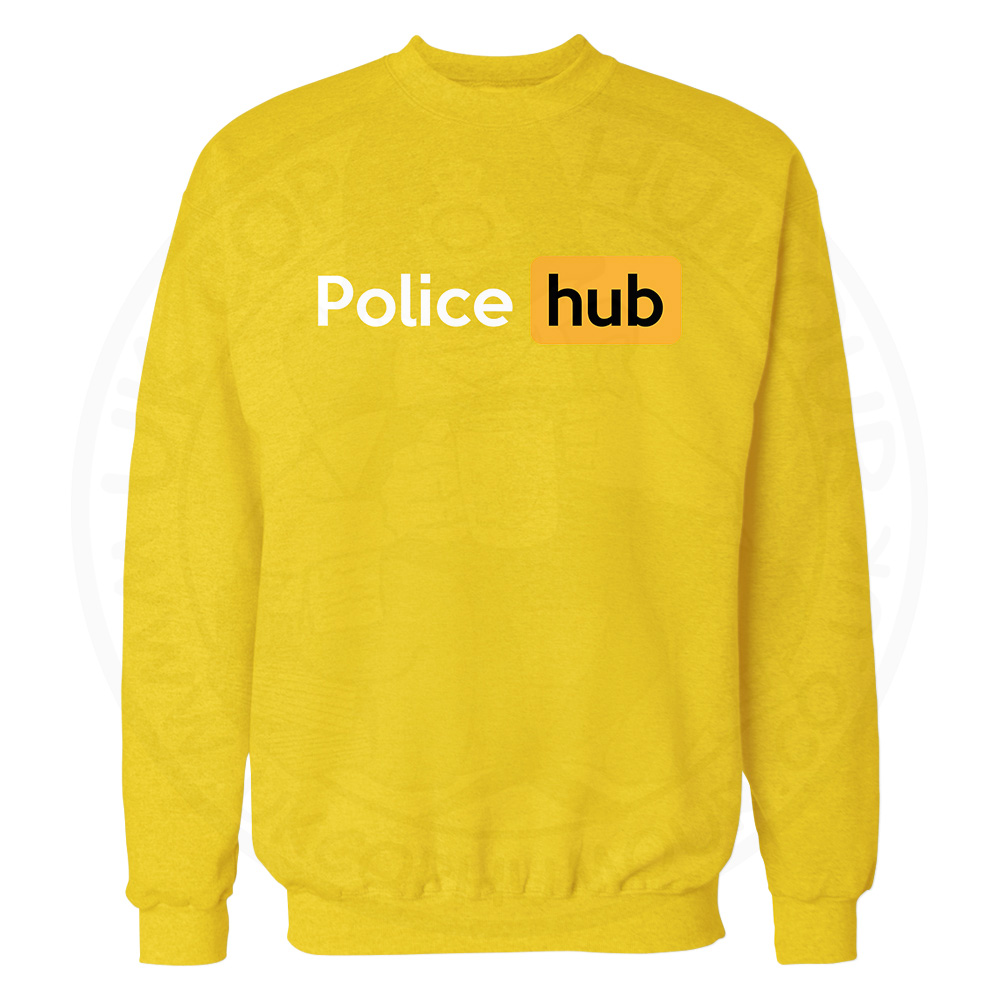 Police Hub Sweatshirt - Yellow, 2XL