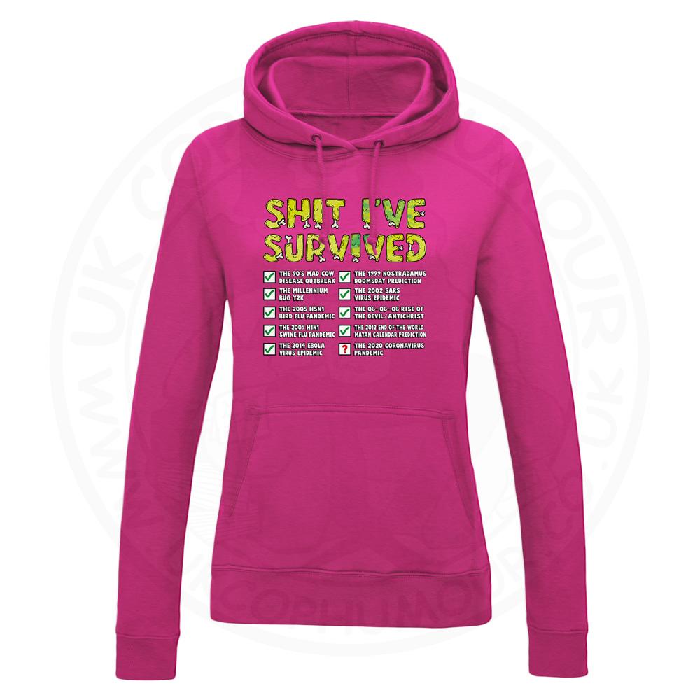Ladies Ive Survived Hoodie - Hot Pink, 18