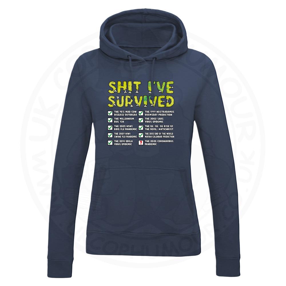 Ladies Ive Survived Hoodie - Navy, 18