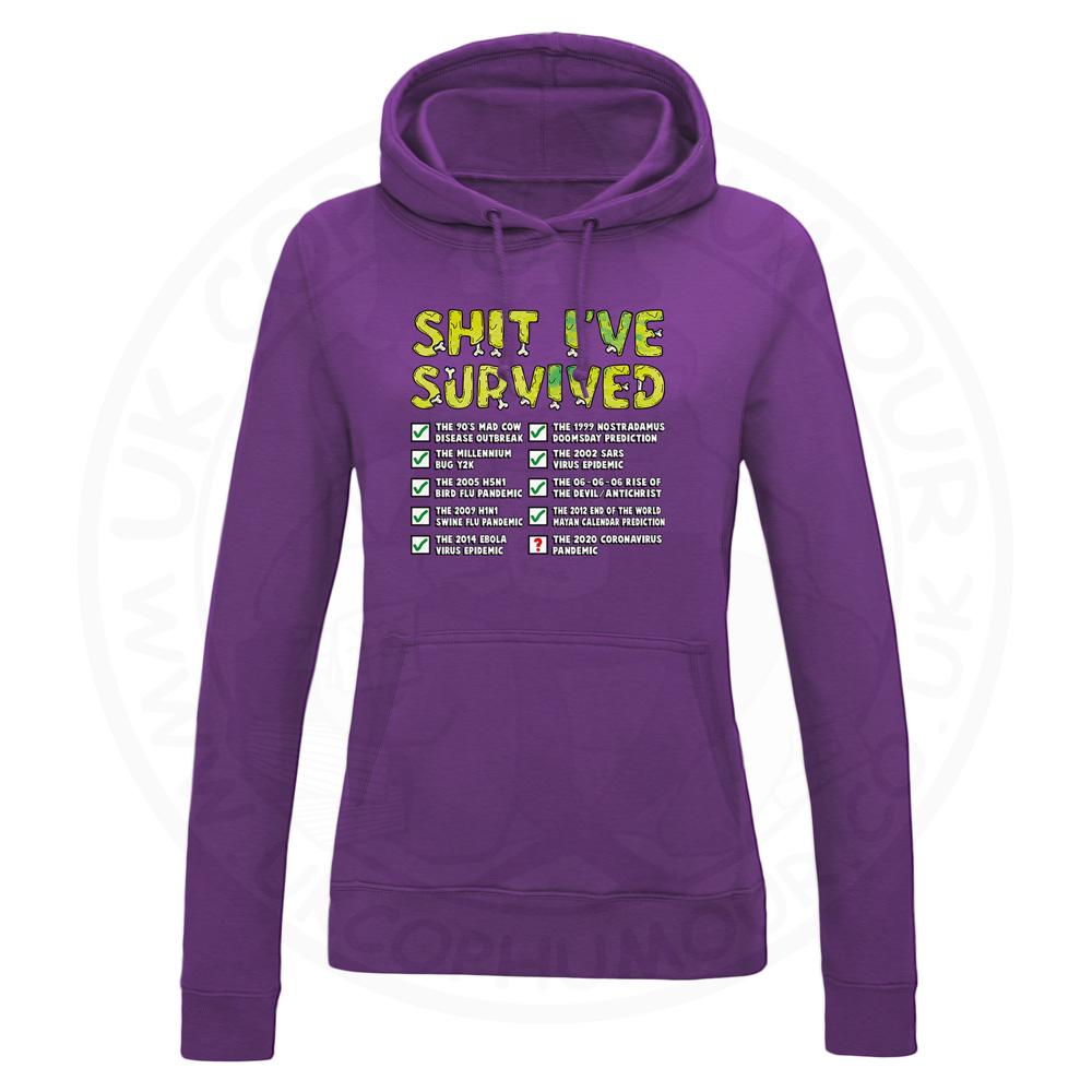 Ladies Ive Survived Hoodie - Purple, 18