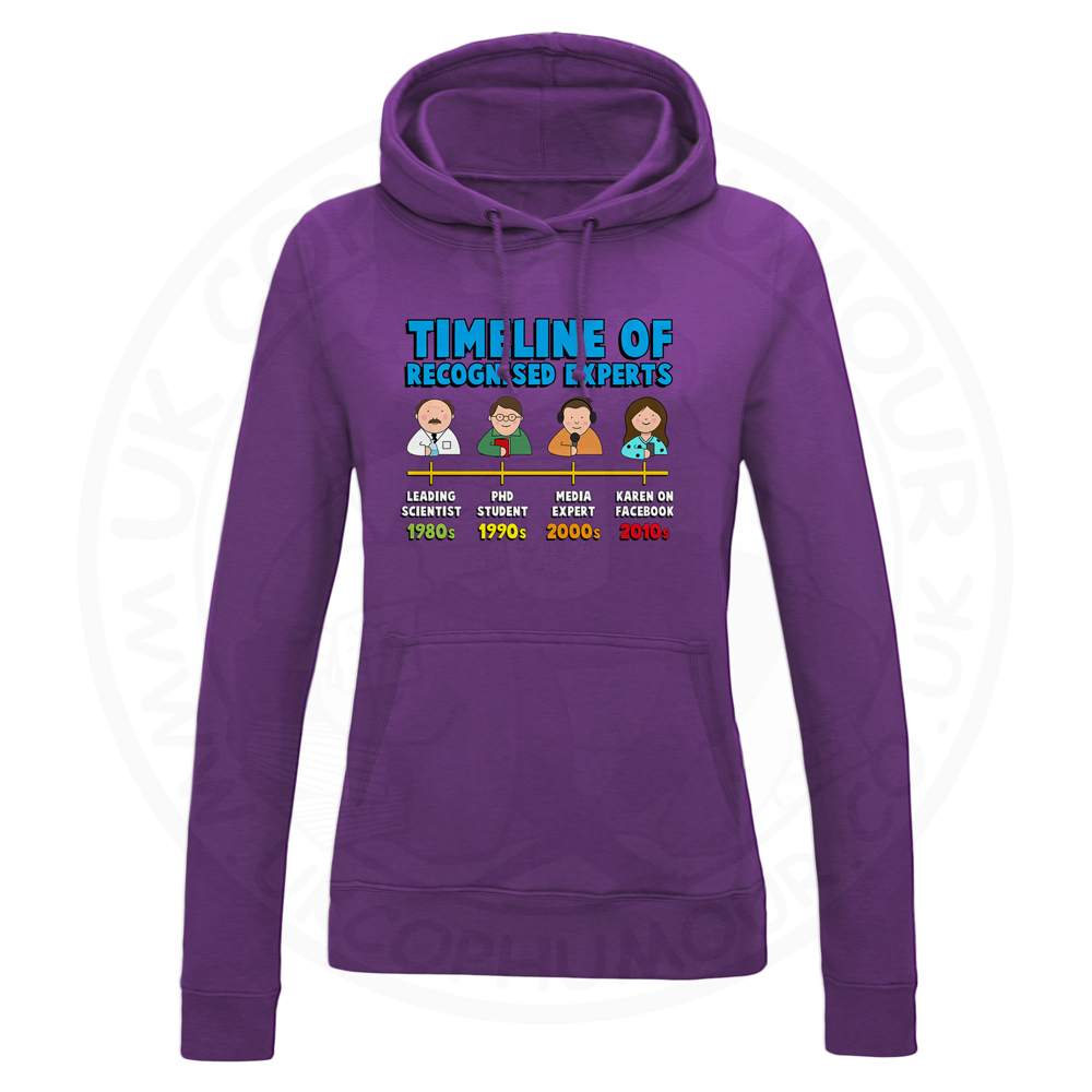 Ladies Timeline of Experts Hoodie - Purple, 18