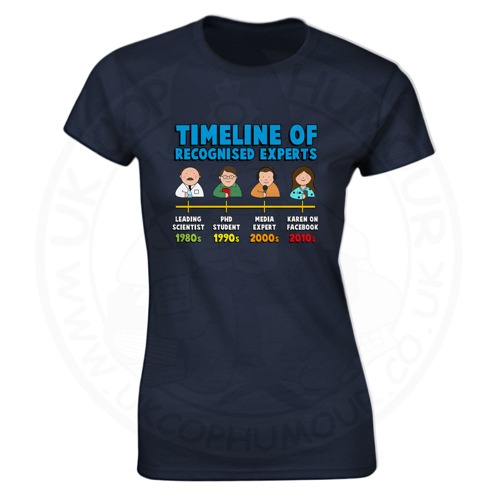 Ladies Timeline of Experts T-Shirt - Navy, 18