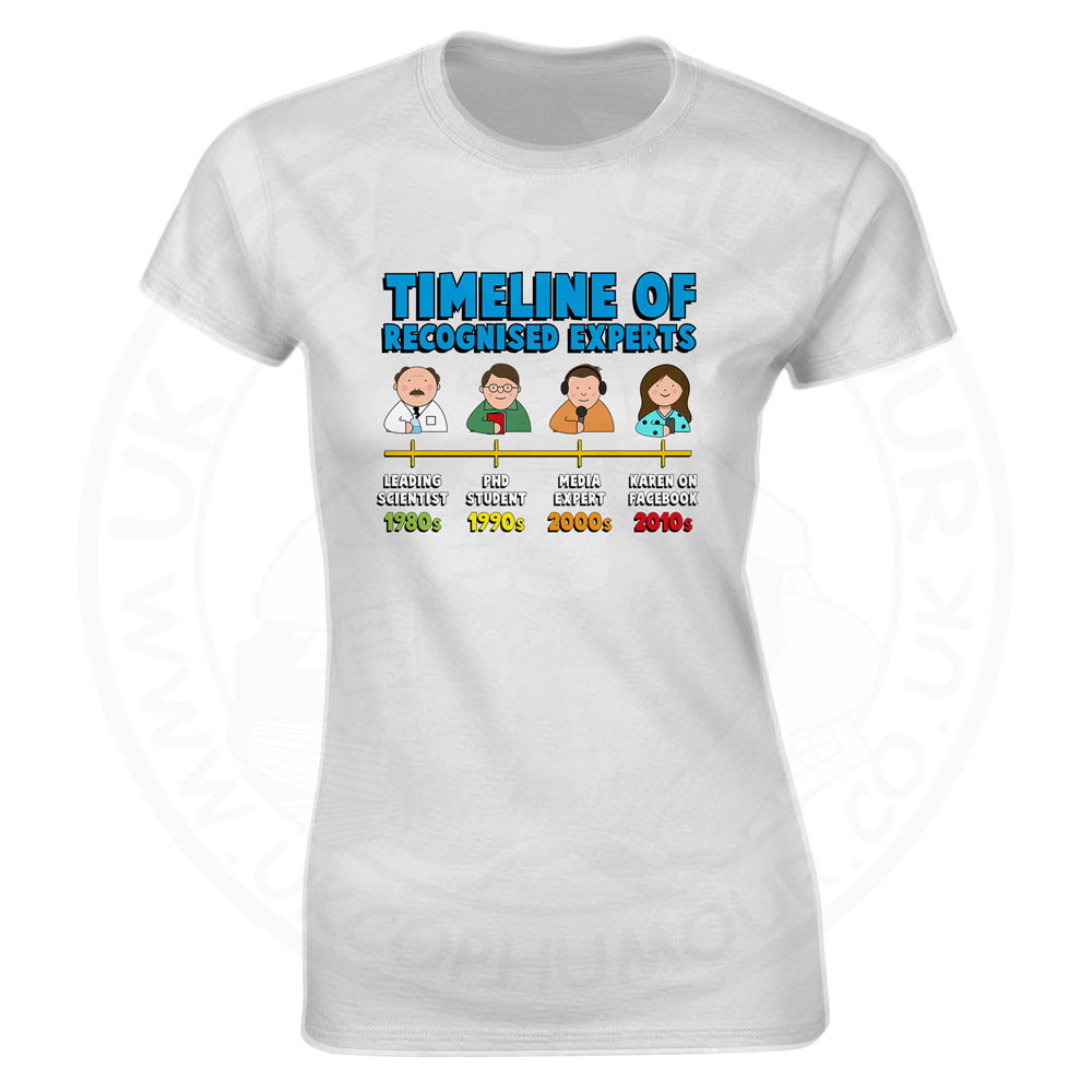 Ladies Timeline of Experts T-Shirt - White, 18
