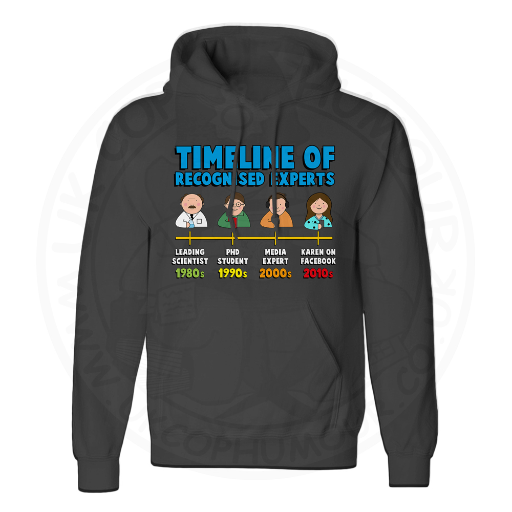 Unisex Timeline of Experts Hoodie - Black, 5XL