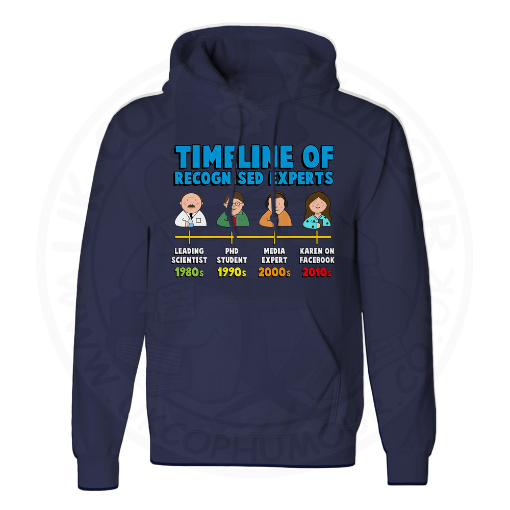 Unisex Timeline of Experts Hoodie - Navy, 5XL