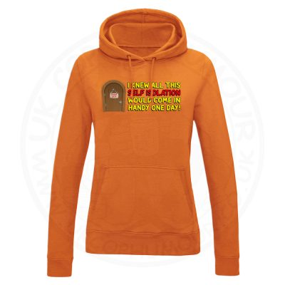 Ladies Self Isolation Hoodie - Orange, 18