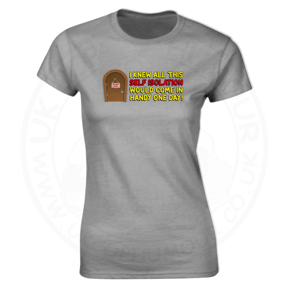 Ladies Self Isolation T-Shirt - Heather Grey, 18
