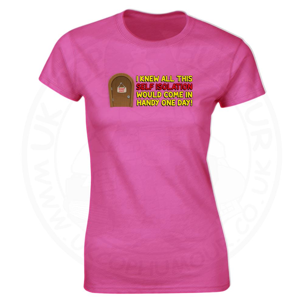 Ladies Self Isolation T-Shirt - Pink, 18