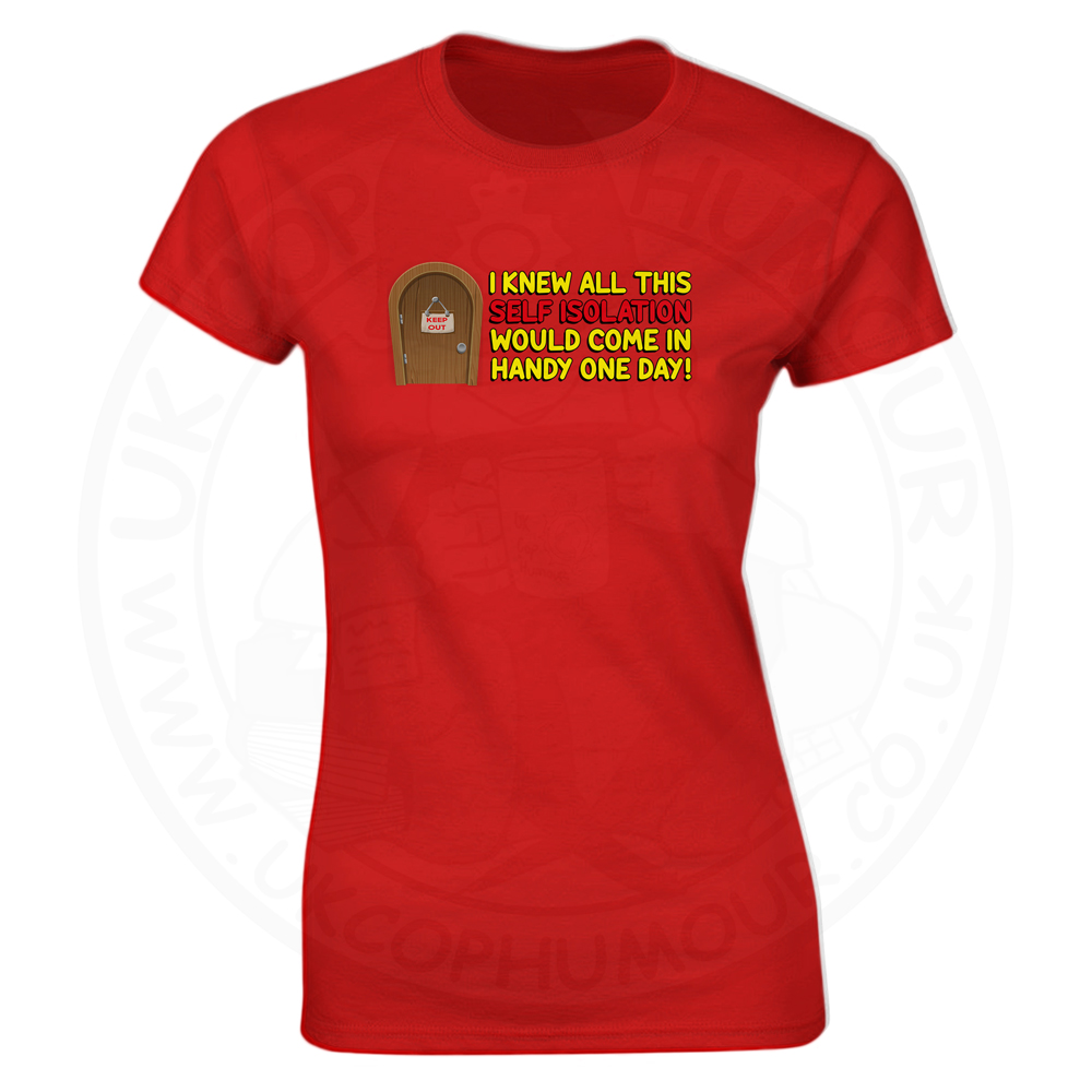 Ladies Self Isolation T-Shirt - Red, 8