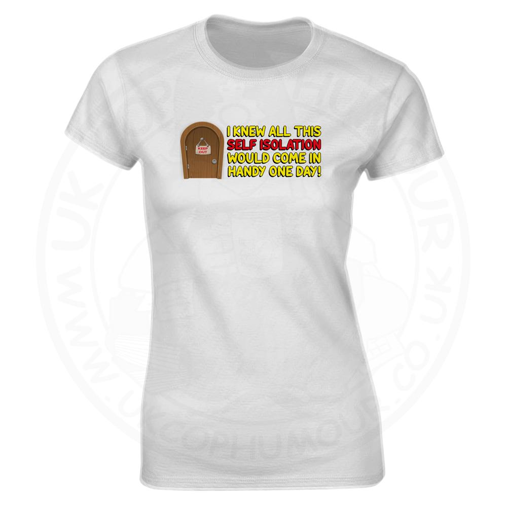 Ladies Self Isolation T-Shirt - White, 18