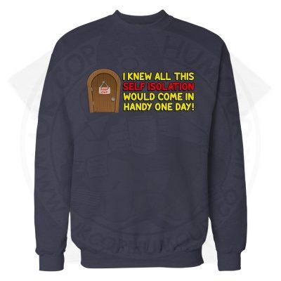 Self Isolation Sweatshirt - Navy, 3XL