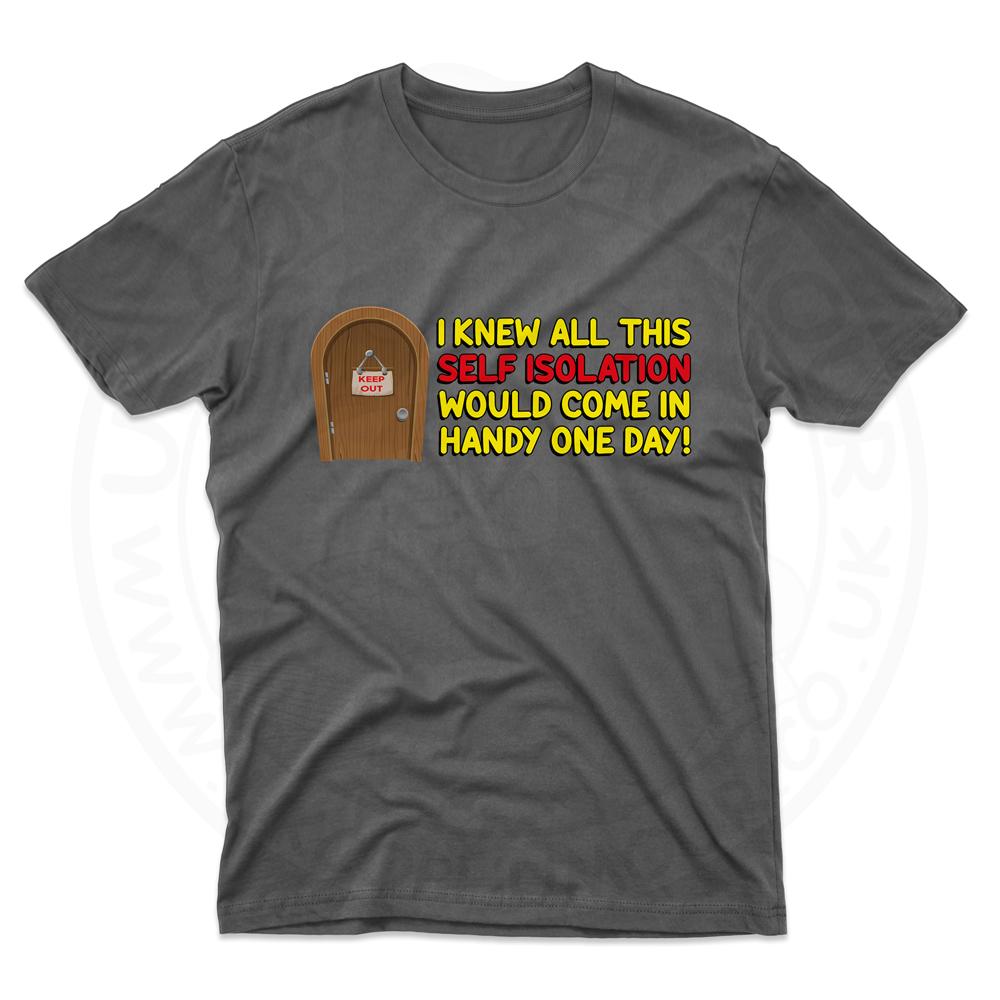 Mens Self Isolation T-Shirt - Black, 5XL