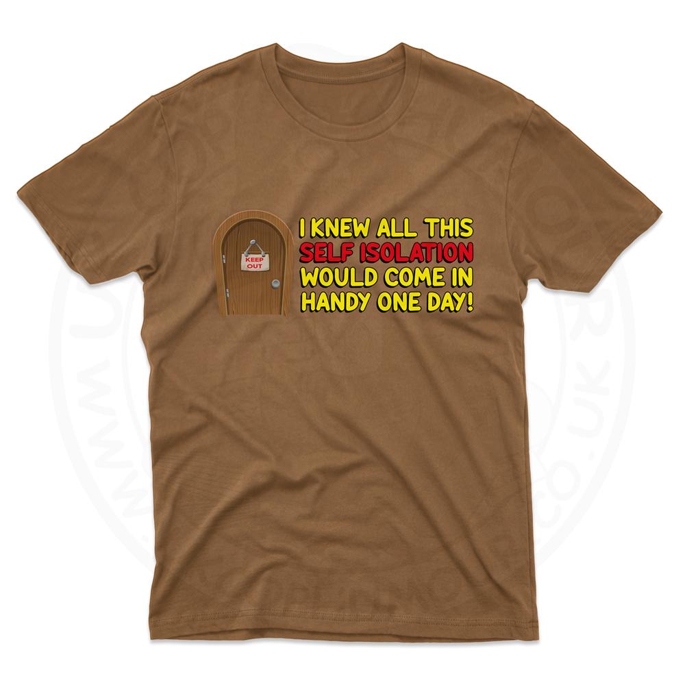 Mens Self Isolation T-Shirt - Chestnut, 2XL