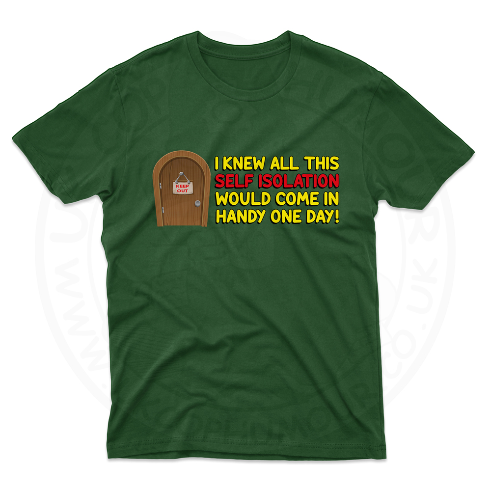 Mens Self Isolation T-Shirt - Forest Green, 2XL