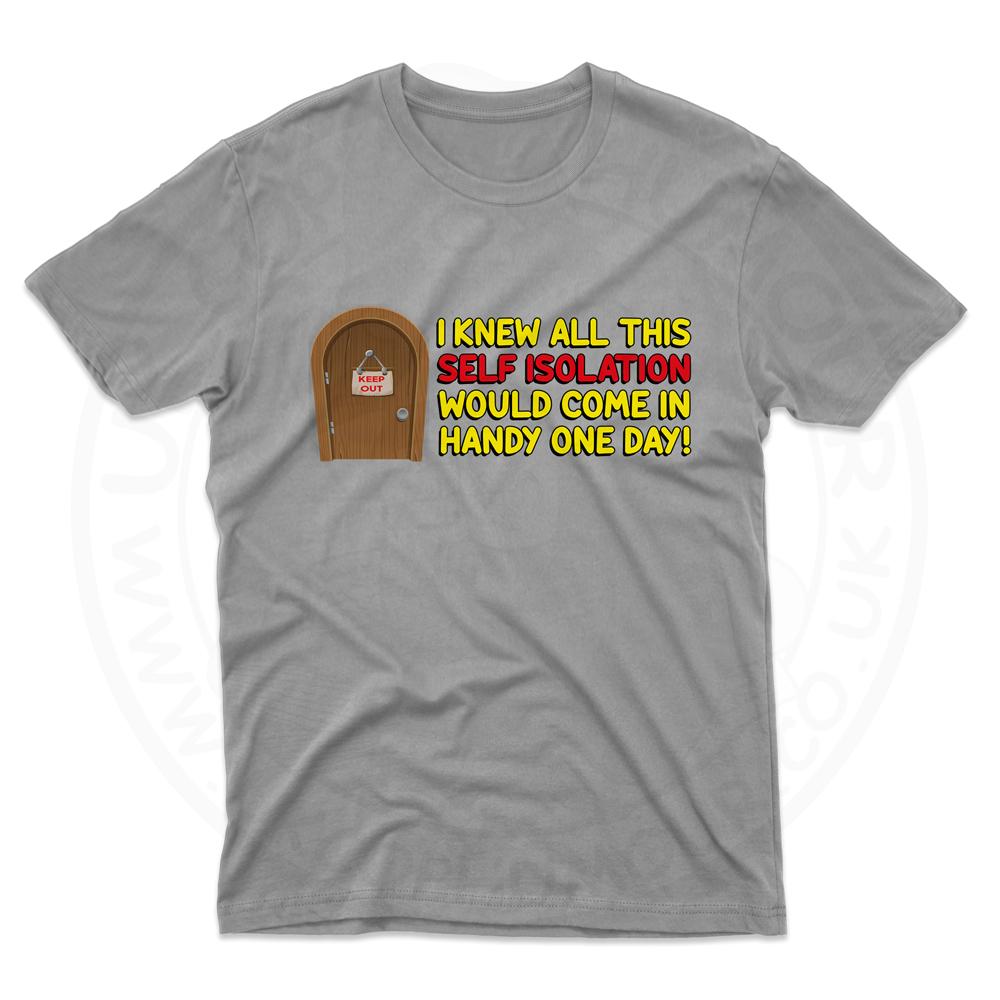 Mens Self Isolation T-Shirt - Grey, 5XL