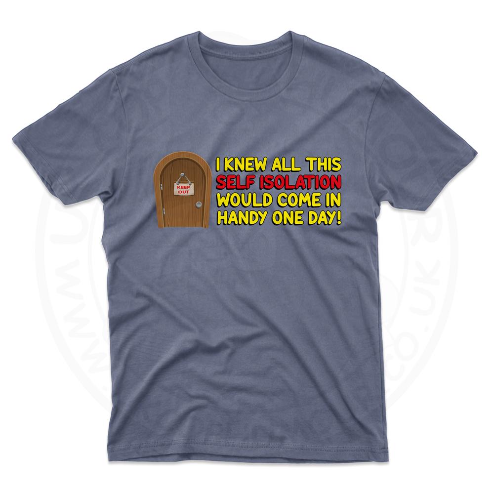 Mens Self Isolation T-Shirt - Indigo Blue, 2XL