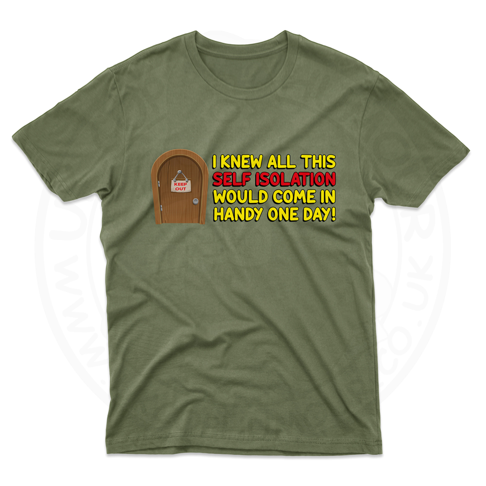 Mens Self Isolation T-Shirt - Military Green, 2XL