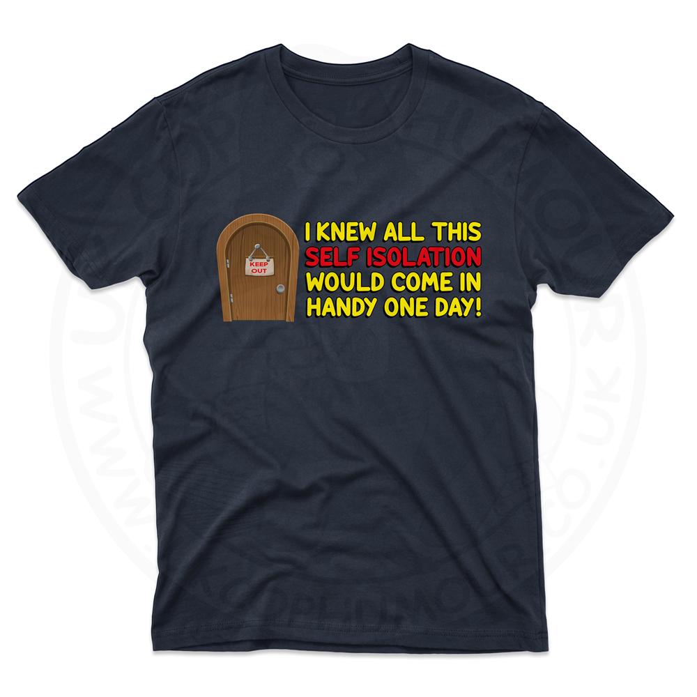 Mens Self Isolation T-Shirt - Navy, 5XL