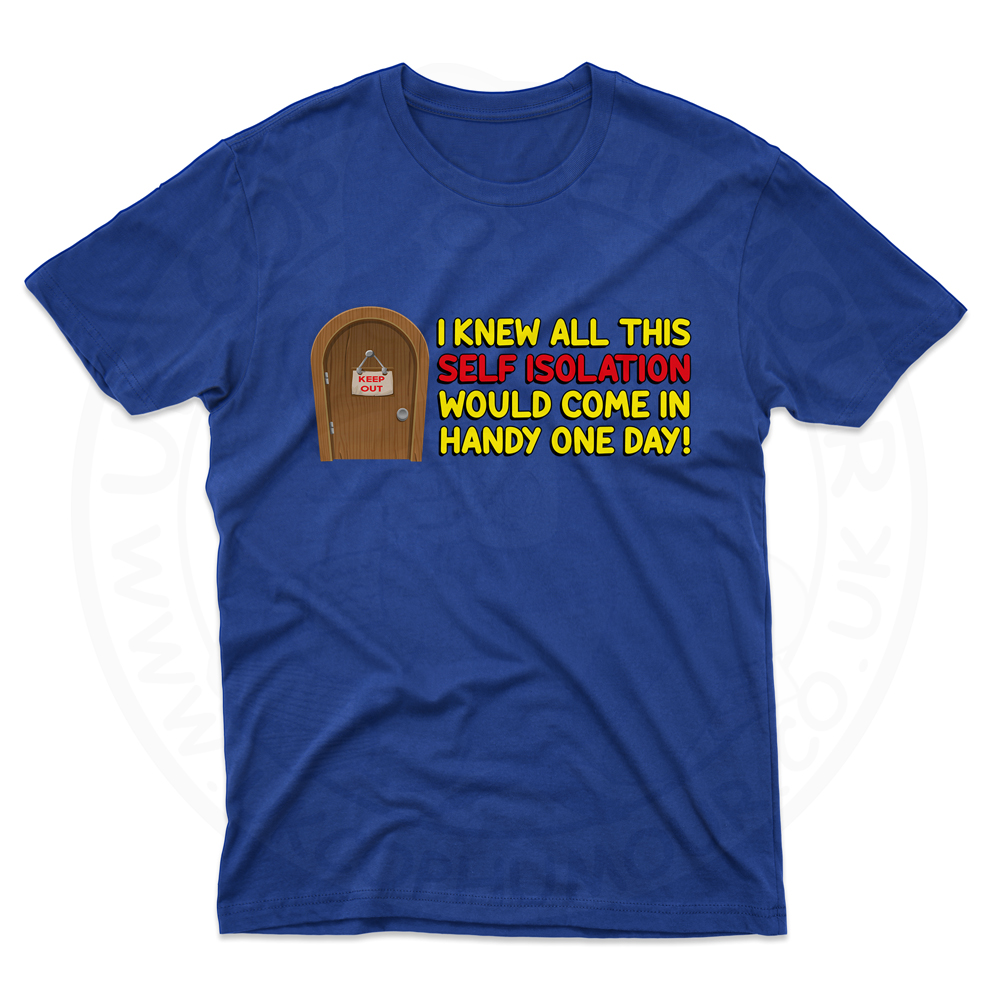 Mens Self Isolation T-Shirt - Royal Blue, 5XL