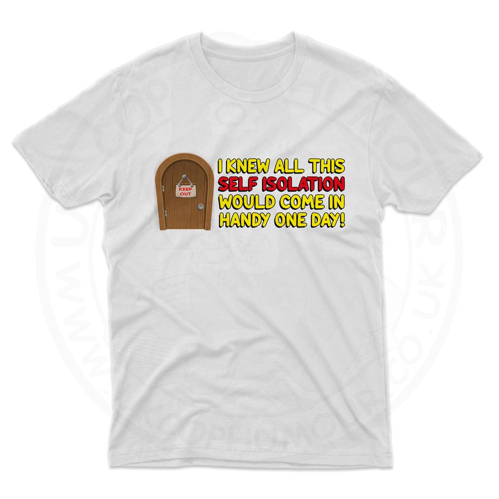 Mens Self Isolation T-Shirt - White, 5XL