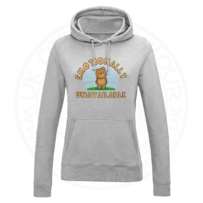 Ladies Emotionally Unavailable Hoodie - Grey, 18