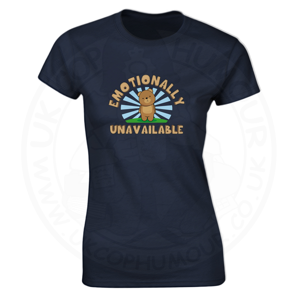 Ladies Emotionally Unavailable T-Shirt - Navy, 18