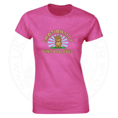 Ladies Emotionally Unavailable T-Shirt - Pink, 18