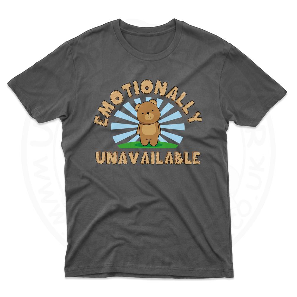 Mens Emotionally Unavailable T-Shirt - Black, 5XL