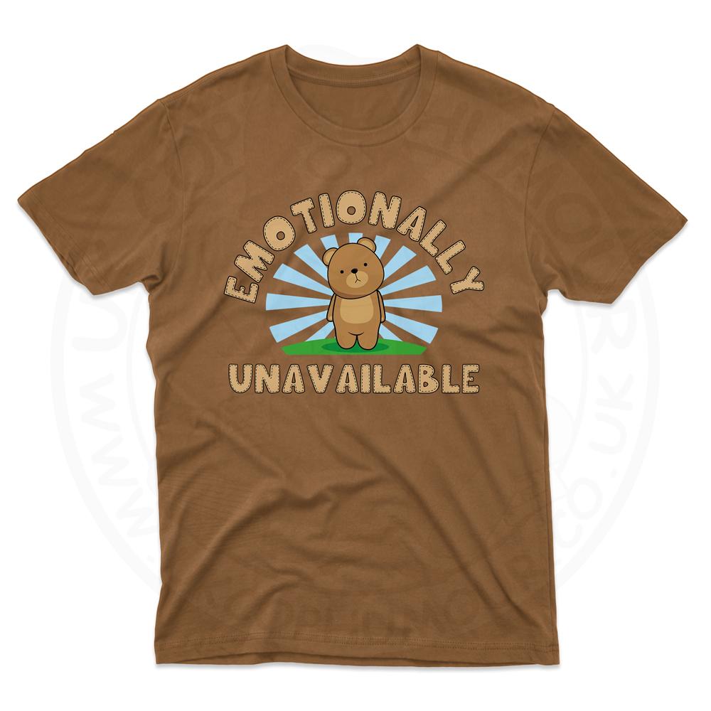 Mens Emotionally Unavailable T-Shirt - Chestnut, 2XL